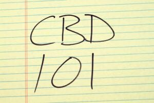 Posted note with CBD 101 written on it.