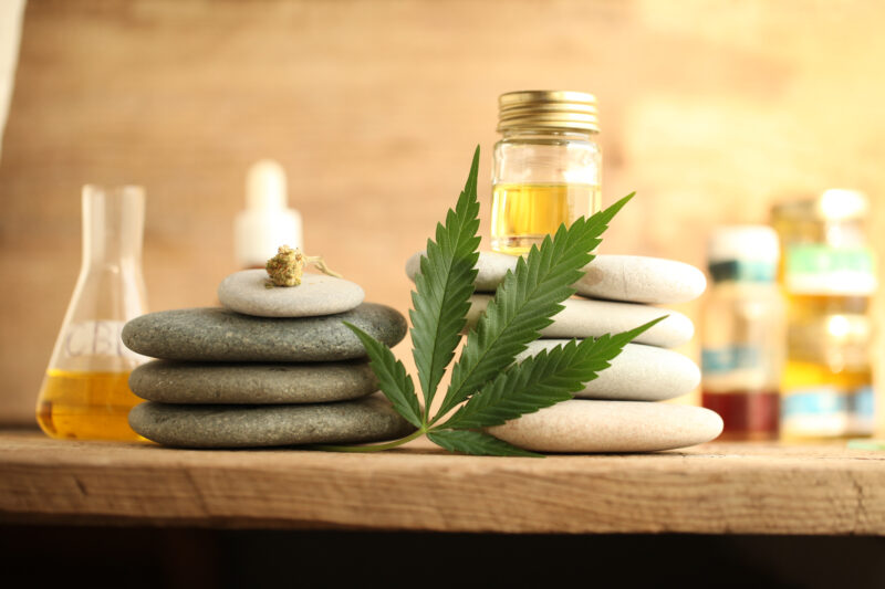 CBD Products Displayed on a table