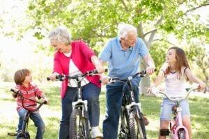 Bikes-and-Seniors - Grandparents with Grandchildren