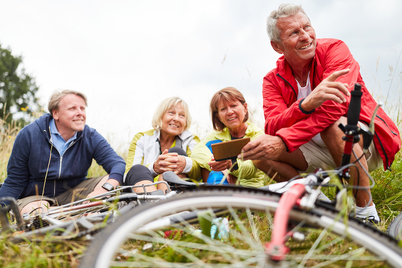 Bicycles and Seniors - Group