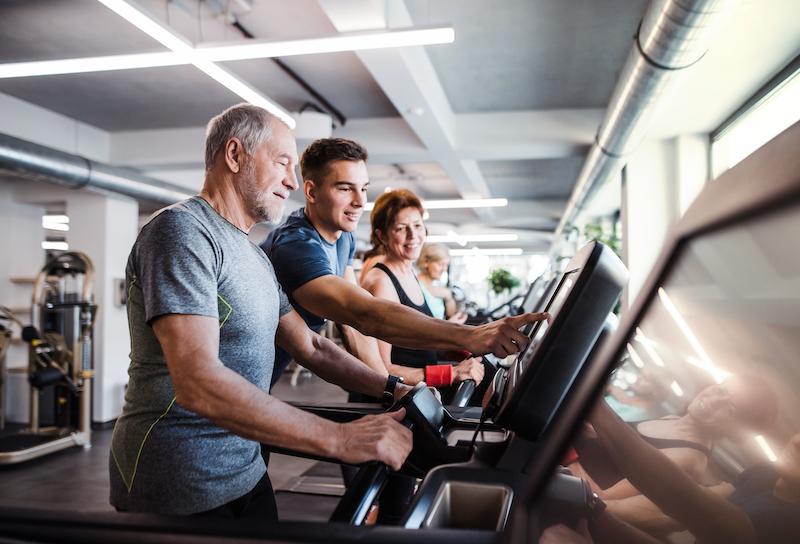 Best Exercise Equipment for Seniors - People Using Treadmills