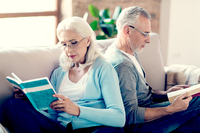 Reading Glasses - A Man and Woman Setting Reading