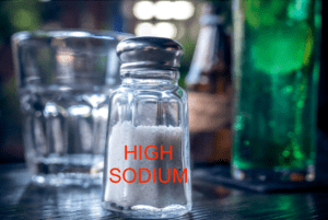 Pickle Juice Benefits - Salt Shaker Labeled High Sodium