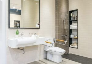 In Home Safety for the Elderly-Bathroom for Elderly or Disabled People