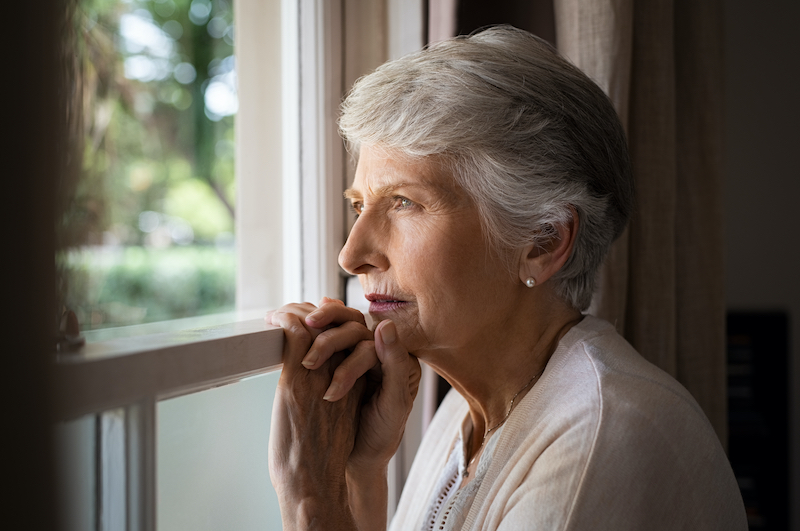 Older Woman Experiencing Social Isolation