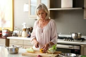 In Home Safety for the Elderly-Woman Preparing Food