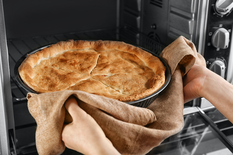 In Home Safety for the Elderly - Pie Coming Out of Oven