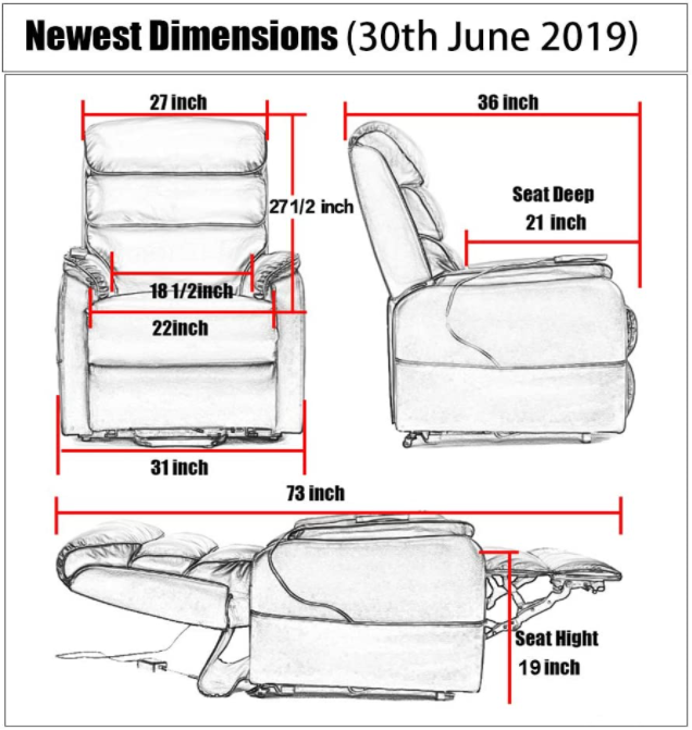 5 Best Power Lift Recliner Chairs - Irene House Dimensions