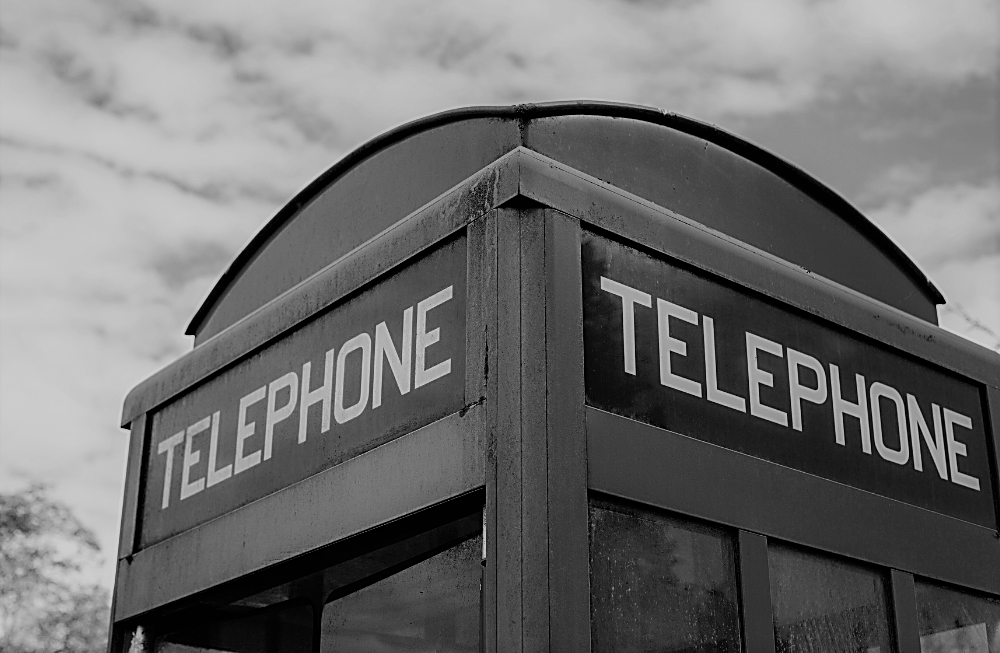 Life in the 1950s - Telephone Booth