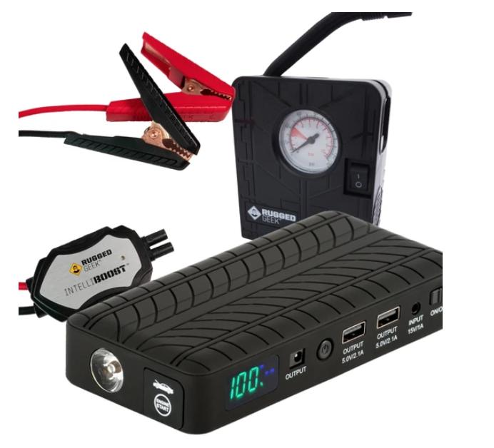 5 Best Portable Car Battery Jump Starters - Rugged Geek 1000A