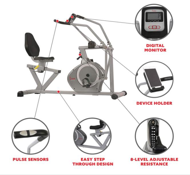 Best Recumbent Bikes for Seniors - Sunny Health & Fitness