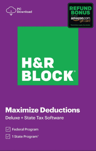 H & R Block Deluxe 2020