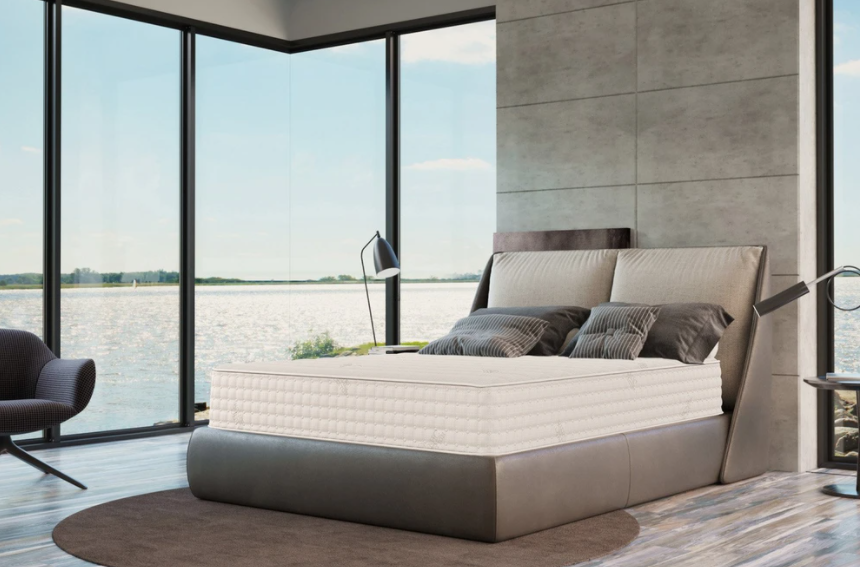 5 Best Mattresses For Seniors - Layla-Hybrid-Mattress-Copper-Infused - The Botanical Bliss by PlushBeds