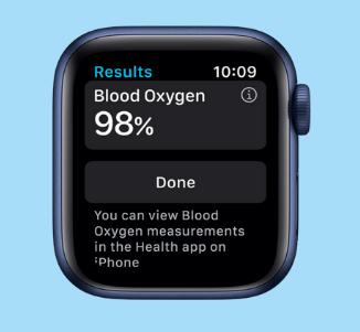 Apple Watch Series 6 - Oxygen Levels
